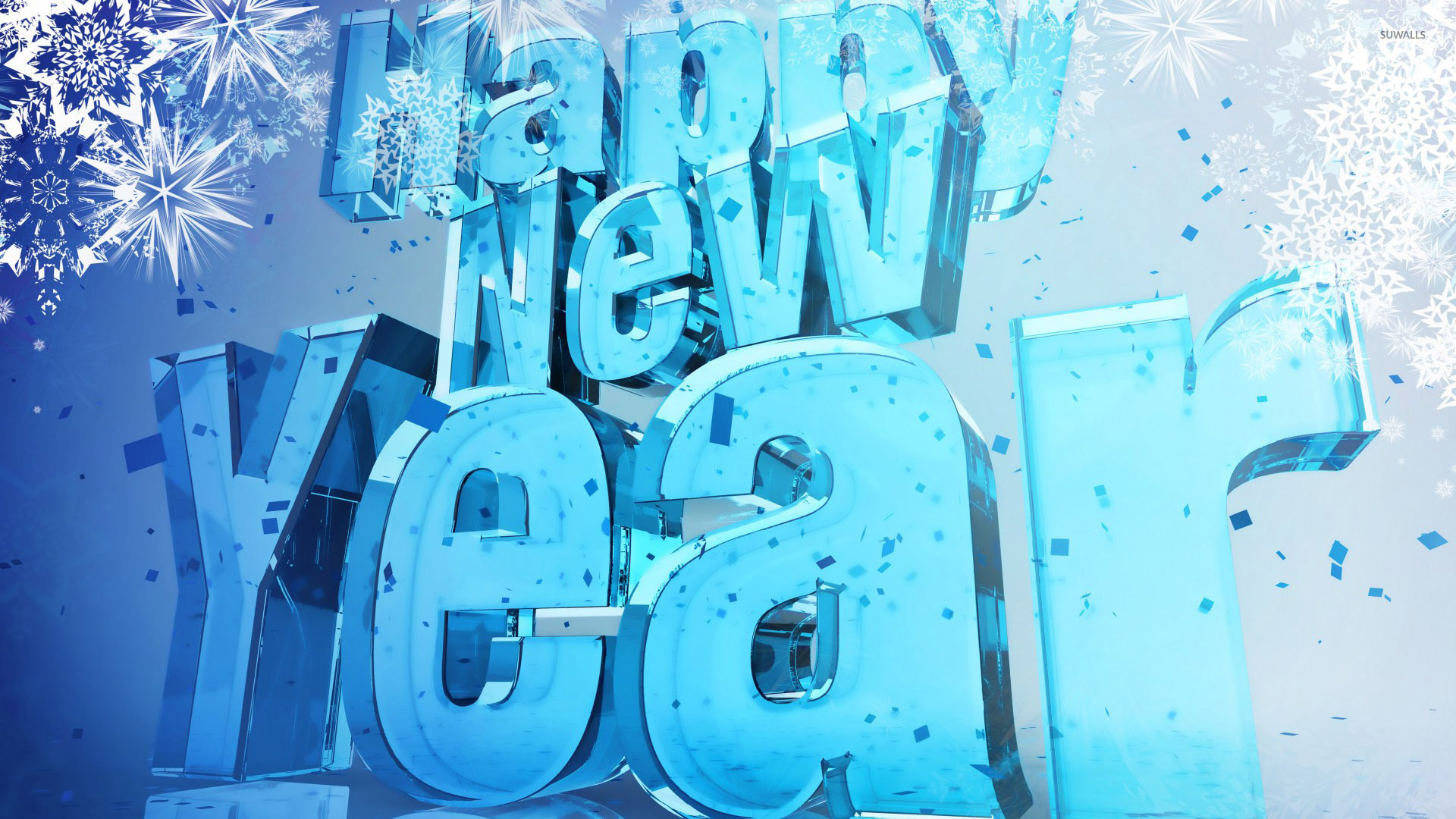 Blue Happy New Year wallpaper - Holiday wallpapers - #50341