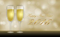 Champagne glasses on New Year's Eve wallpaper 2880x1800 jpg