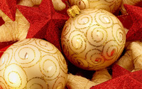 Christmas balls and stars wallpaper 1920x1080 jpg