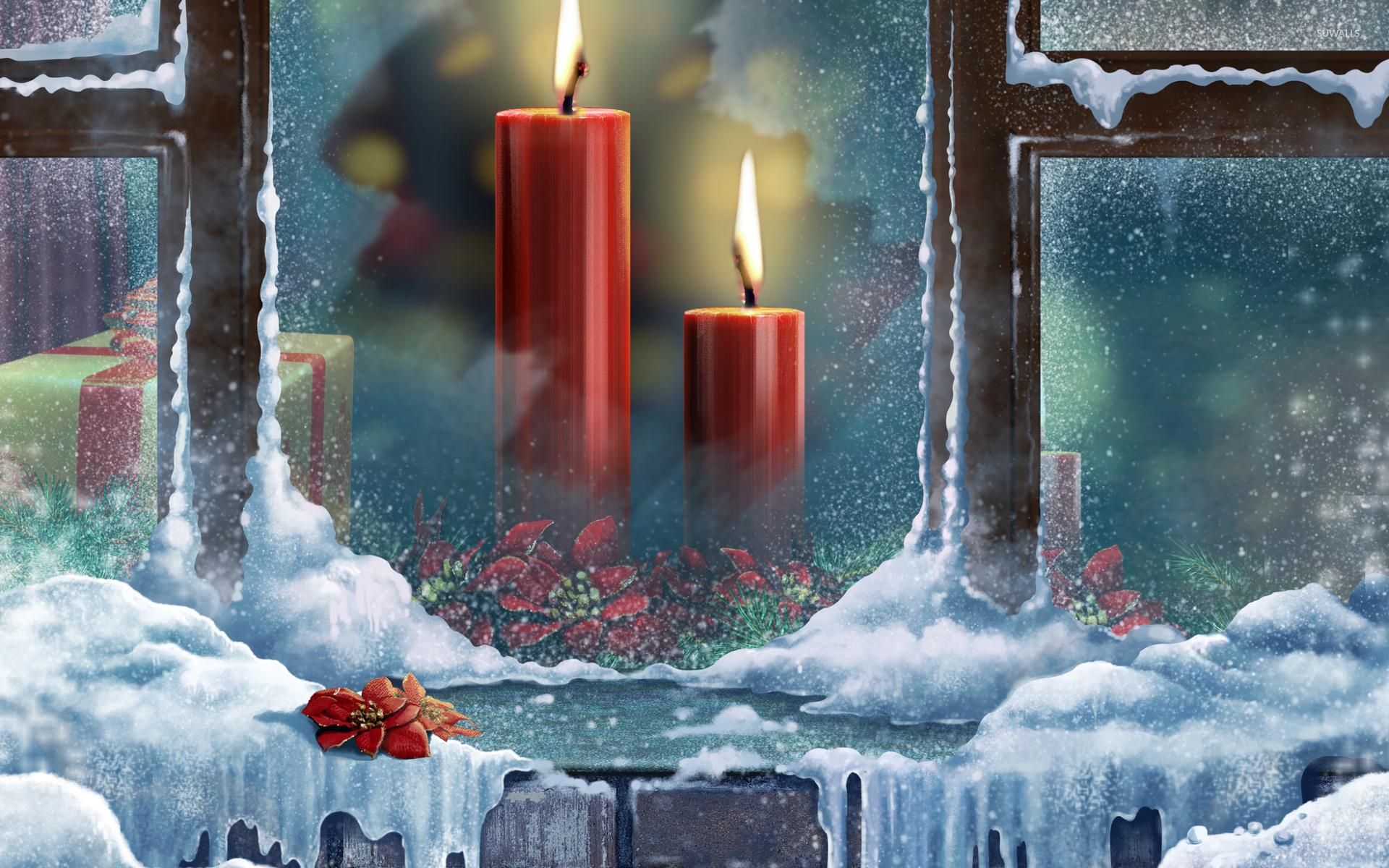 Christmas candles [4] wallpaper - Holiday wallpapers - #38125