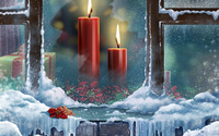 Christmas candles [4] wallpaper 1920x1200 jpg