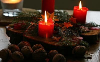 Christmas candles [2] wallpaper