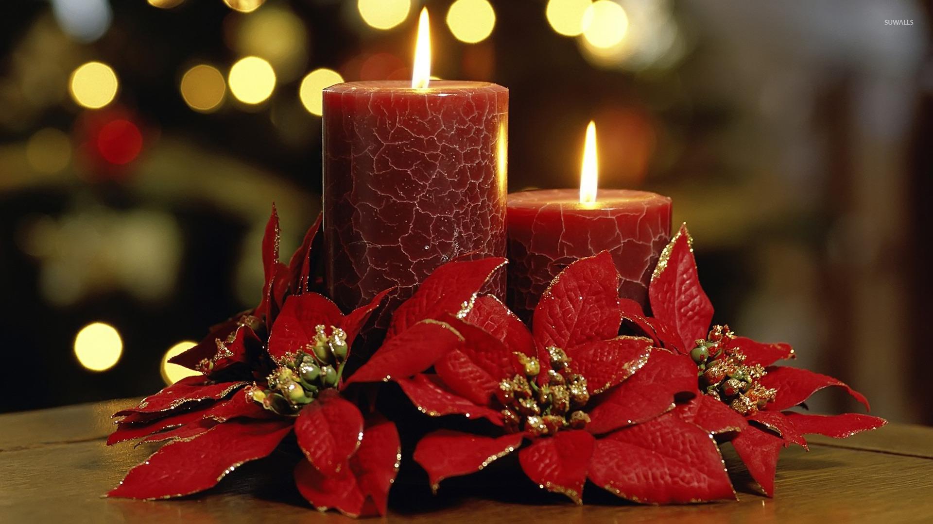 Christmas Candles Wallpaper Holiday Wallpapers 9802