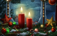 Christmas decoration in the window wallpaper 1920x1200 jpg