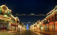 Christmas decorations in the city wallpaper 1920x1080 jpg