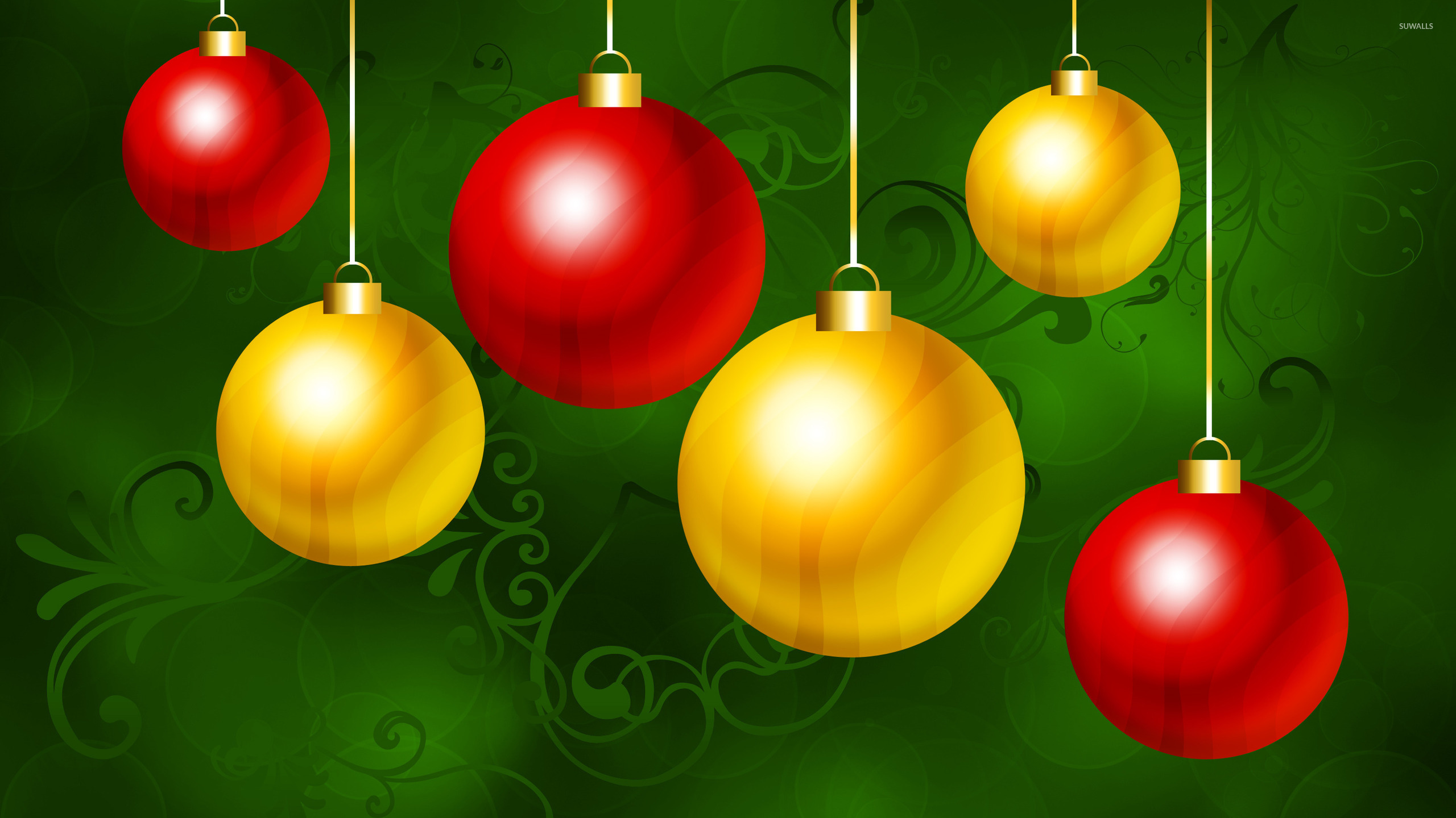 Christmas ornaments 3 wallpaper holiday wallpapers for Holiday christmas ornaments