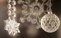 Christmas silver ball wallpaper 1920x1080 jpg