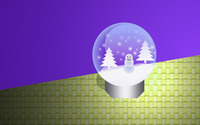 Christmas snow globe wallpaper 2880x1800 jpg