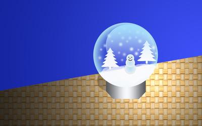 Christmas snow globe [2] wallpaper