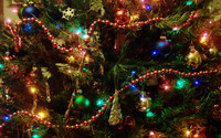 Christmas tree decoration wallpaper 2560x1600 jpg