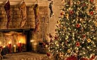 Christmas tree on Christmas Eve wallpaper 1920x1080 jpg