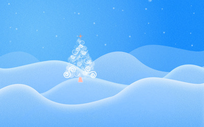 Christmas tree on the hill wallpaper