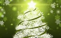 Christmas tree with green ribbons wallpaper 1920x1080 jpg