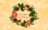 Christmas wreath wallpaper 2880x1800 jpg