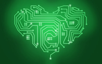 Circuit heart wallpaper 2880x1800 jpg