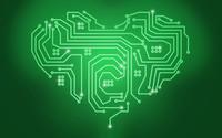 Circuit heart wallpaper 2880x1800 jpg