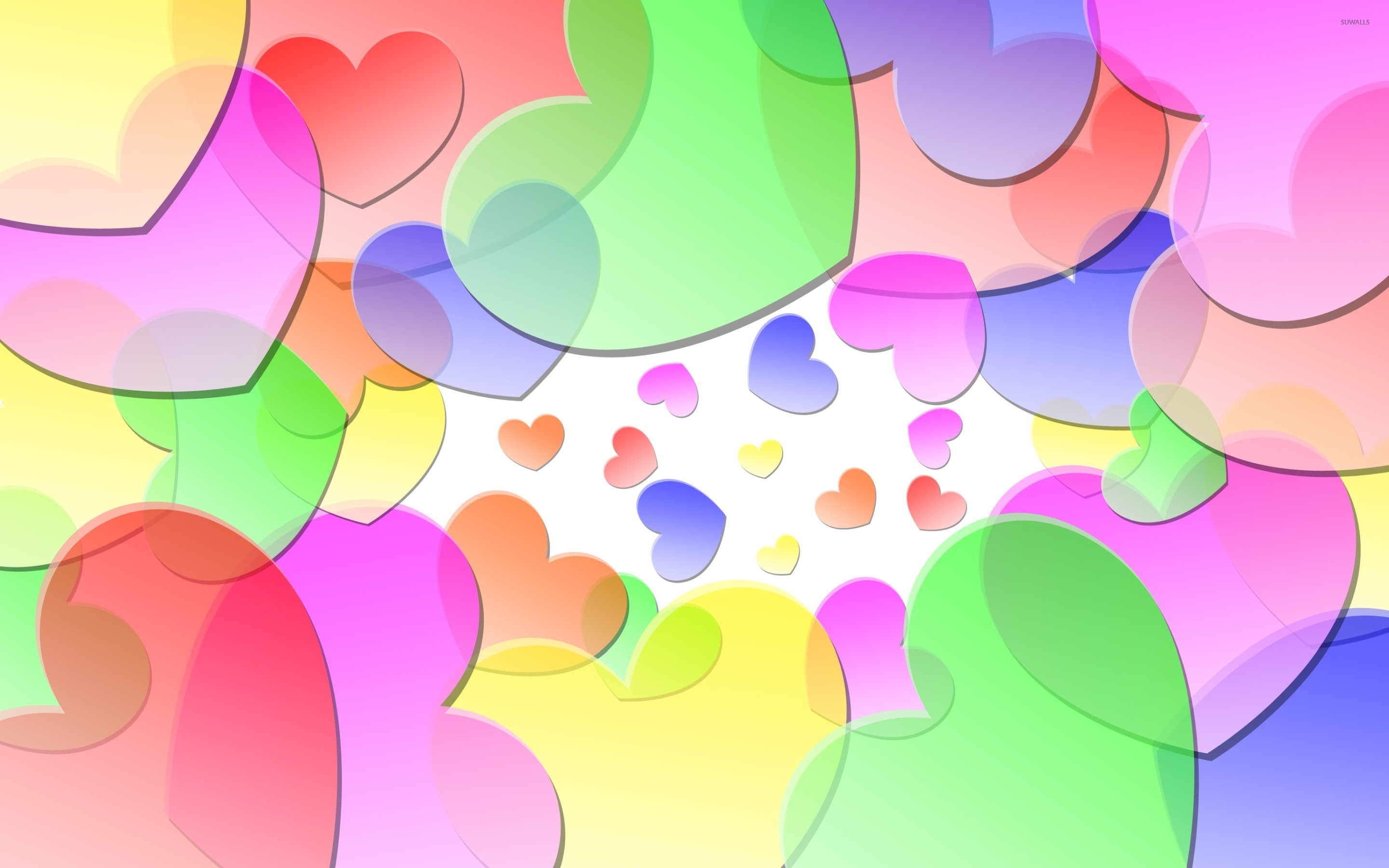 Colorful Hearts 2 Wallpaper