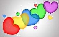 Colorful hearts wallpaper 2880x1800 jpg
