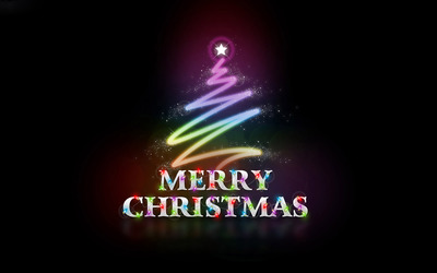 Colorful Merry Christmas wallpaper