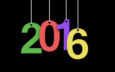 Colorful paper 2016 numbers wallpaper