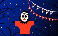 Costumed scarecrow wallpaper 3840x2160 jpg