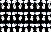 Cute ghost pattern wallpaper 2880x1800 jpg
