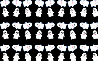 Cute ghost pattern wallpaper