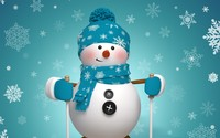 Cute snowman wallpaper 2880x1800 jpg