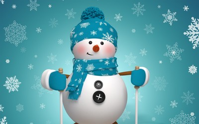Cute snowman wallpaper