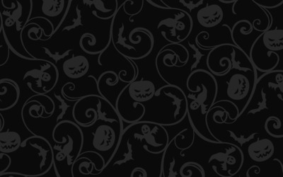 Dark Halloween pattern wallpaper