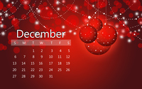 December 2015 red calendar wallpaper 3840x2160 jpg