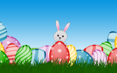 Easter bunny [9] wallpaper