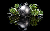 Elegant Christmas ornaments wallpaper 2880x1800 jpg
