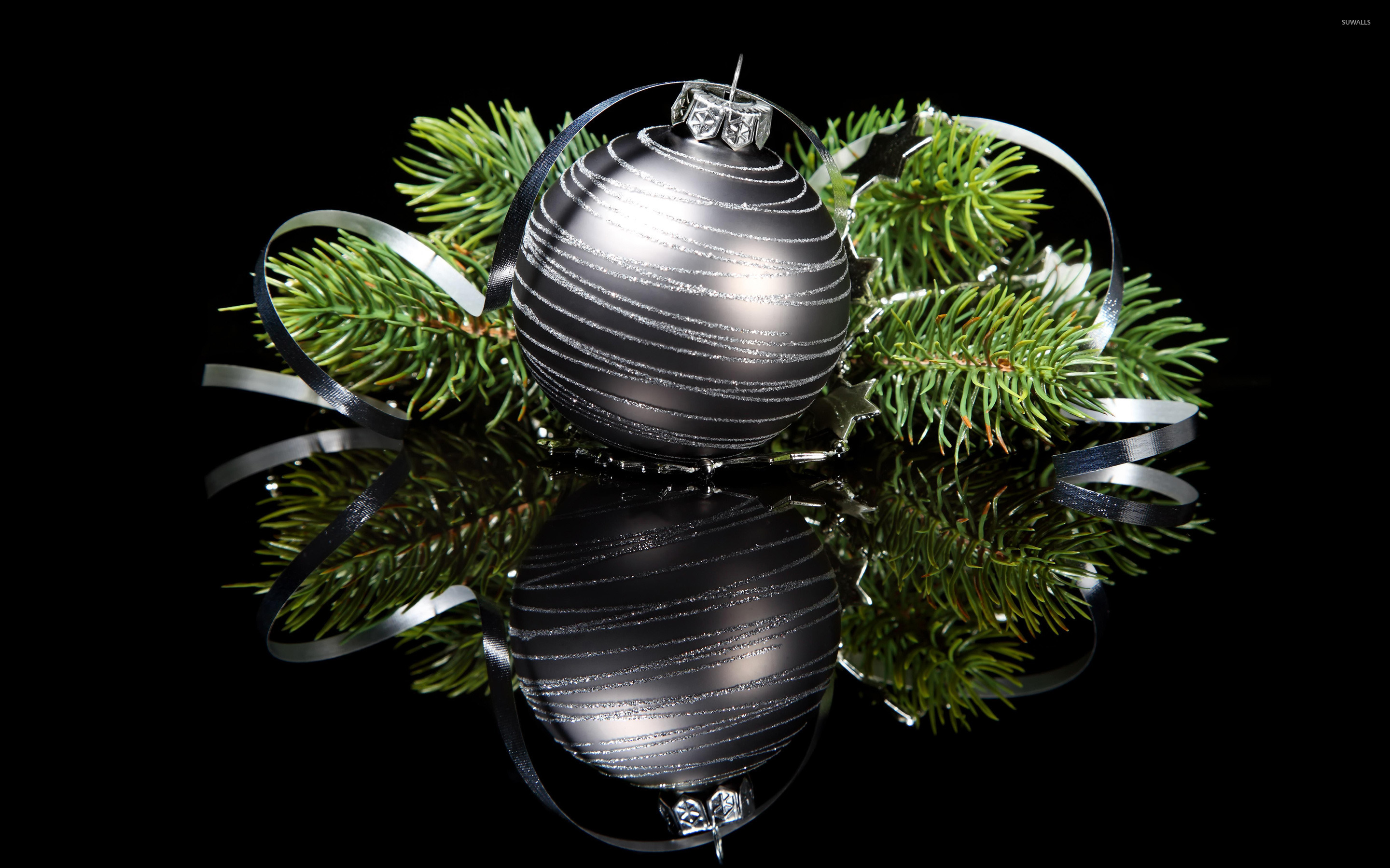 elegant christmas ornaments wallpaper