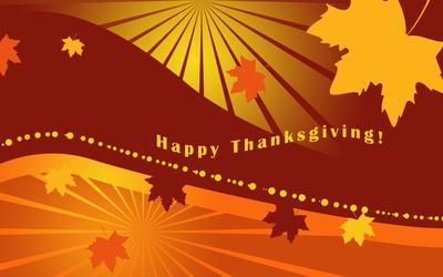 Falling leaves on Thanksgiving wallpaper