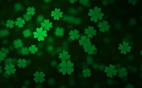 Floating clovers wallpaper 3840x2160 jpg