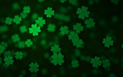 Floating clovers wallpaper
