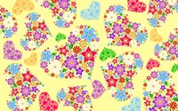 Floral hearts wallpaper 2880x1800 jpg
