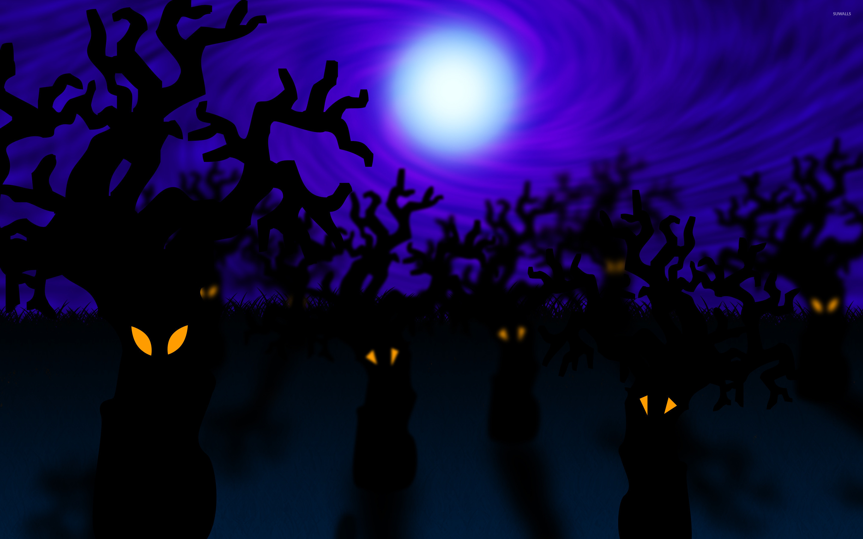 Top Wallpaper Halloween Purple - forest-on-halloween-23880-2880x1800  Perfect Image Reference_639218.jpg