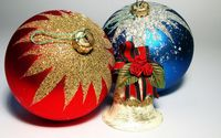 Gilded blue and red baubles wallpaper 1920x1200 jpg