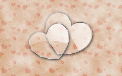 Glass hearts [2] Wallpaper