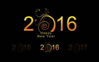Golden 2016 with a swirly tree wallpaper 3840x2160 jpg