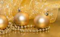 Golden Christmas decorations wallpaper 3840x2160 jpg