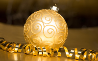 Golden sparkly bauble wallpaper 3840x2160 jpg