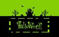 Green Halloween night wallpaper 2880x1800 jpg
