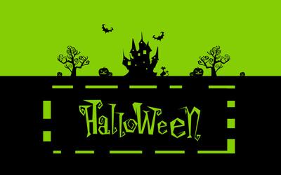 Green Halloween night Wallpaper