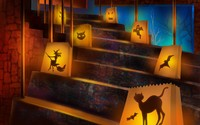Halloween decoration wallpaper 1920x1200 jpg