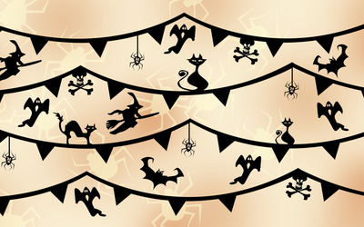 Halloween decorations wallpaper
