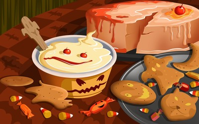 Halloween desserts wallpaper