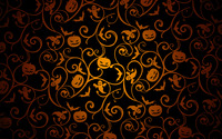 Halloween pattern on black wallpaper 3840x2160 jpg